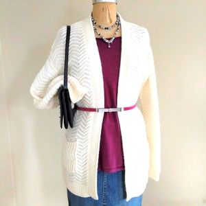 Mossimo Ivory Open Cardigan Size Medium
